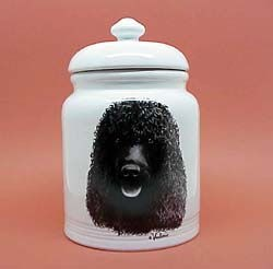 Irish Water Spaniel Cookie Jar