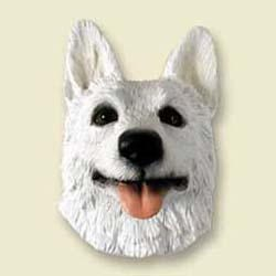White German Shepherd Magnet