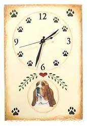 Basset Hound Clock