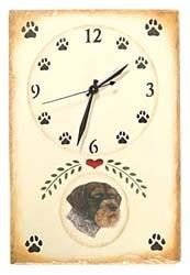 German Wirehaired Pointer Clock