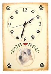 Wheaten Terrier Clock