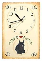 Thoroughbred Horse Clock