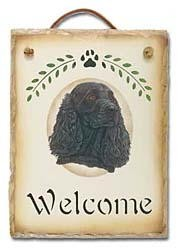 Black Cocker Spaniel Sign