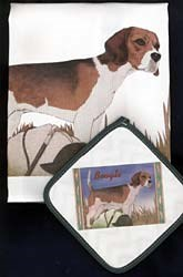 Beagle Dish Towel & Potholder