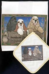 Cocker Spaniel Dish Towel & Potholder