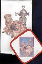 Shar Pei Dish Towel & Potholder