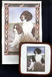 Springer Spaniel Dish Towel & Potholder