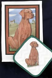 Vizsla Dish Towel & Potholder