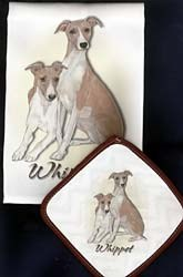 Whippet Dish Towel & Potholder