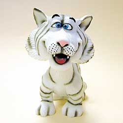 White Tiger Bobble Head