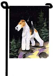 Wire Fox Terrier Garden Flag