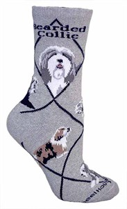 Bearded Collie Socks