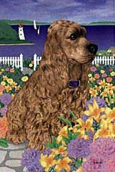 Cocker Spaniel Garden Flag