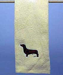 Red Dachshund Hand Towel