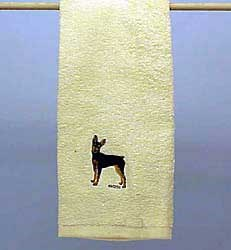 Miniature Pinscher Hand Towel