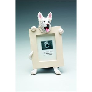 White German Shepherd Picture Frame