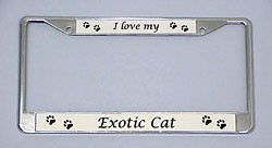 Exotic Cat License Plate Frame