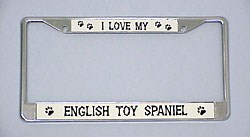 English Toy Spaniel License Plate Frame