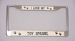 Toy Spaniel License Plate Frame