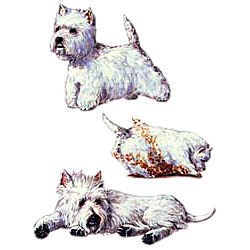 West Highland Terrier T-Shirt - Collage
