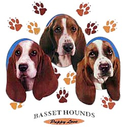 Basset Hound T-Shirt - Puppies and Paws