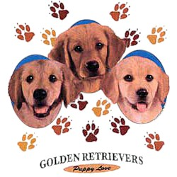 Golden Retriever T-Shirt - Puppies and Paws