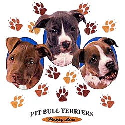 Pit Bull Terrier T-Shirt - Puppies and Paws