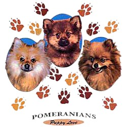 Pomeranian T-Shirt - Puppies and Paws