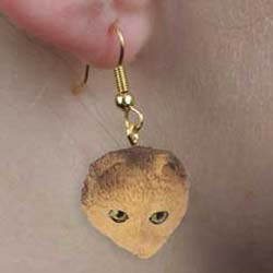 Scottish Fold Cat Earrings