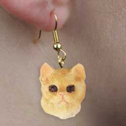 Red Tabby Cat Earrings