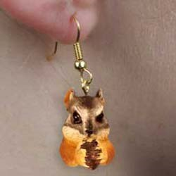 Chipmunk Earrings