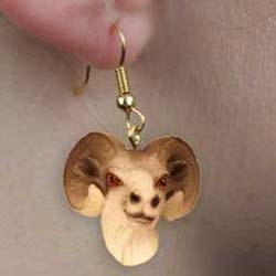 Big Horn Sheep Earrings