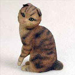 Scottish Fold Cat Figurine
