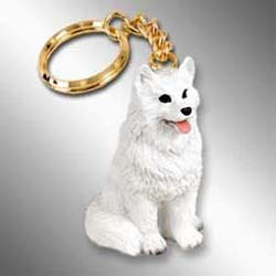 American Eskimo Dog Keychain
