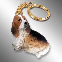Basset Hound Keychain