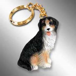 Bernese Mountain Dog Keychain