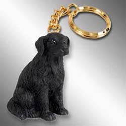 Flat-Coated Retriever Keychain
