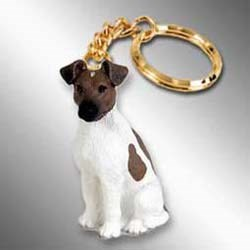 Smooth Fox Terrier Keychain