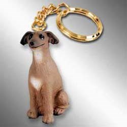 Italian Greyhound Keychain