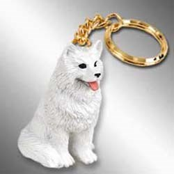 Samoyed Keychain