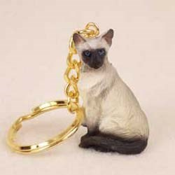 Siamese Cat Keychain