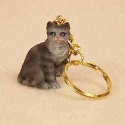Tabby Cat Keychain