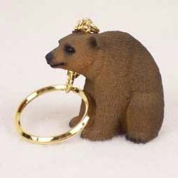 Brown Bear Keychain