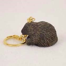 Porcupine Keychain