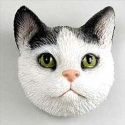 Black & White Cat Magnet