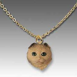 Scottish Fold Cat Necklace