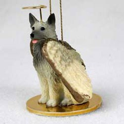 Norwegian Elkhound Christmas Ornament