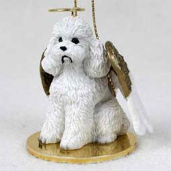Poodle Ornament (White)