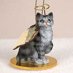 Tabby Cat Ornament Angel