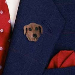 Red Dachshund Pin